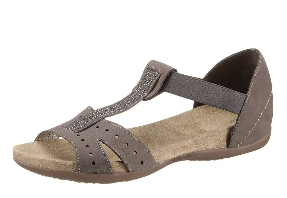 Sandale, Rieker in taupe
