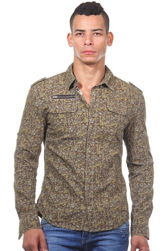CATCH Langarmhemd slim fit in khaki