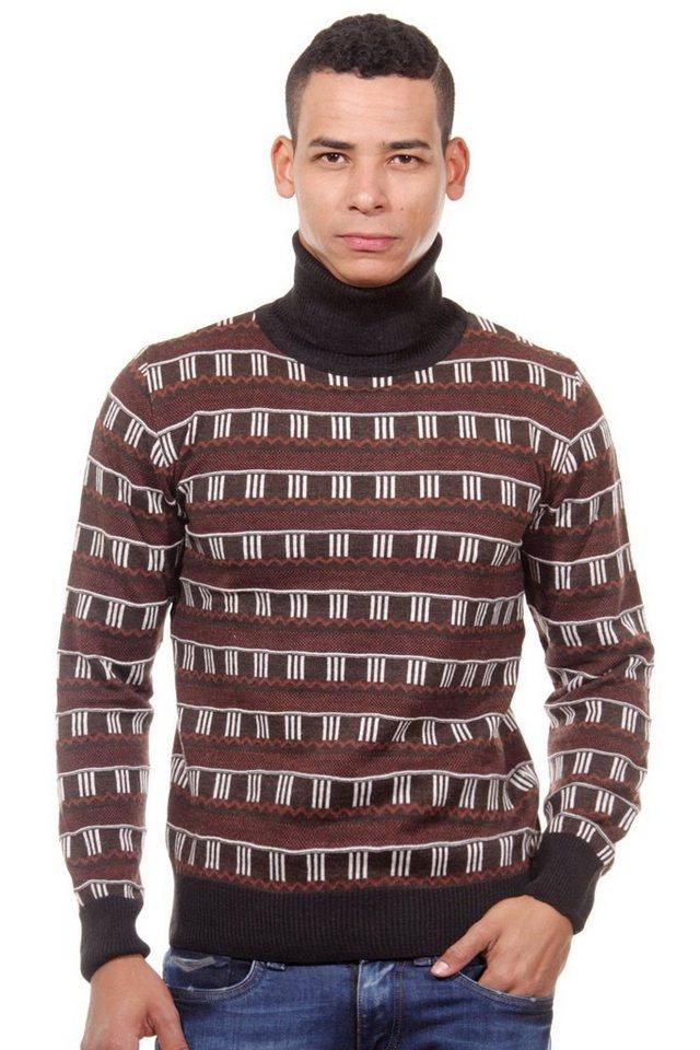 MCL Pullover Rollkragen slim fit in schwarz