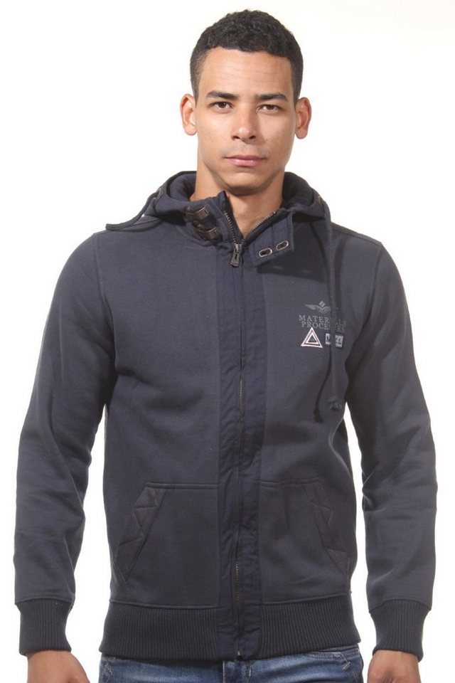 MCL Kapuzensweatjacke regular fit in navy