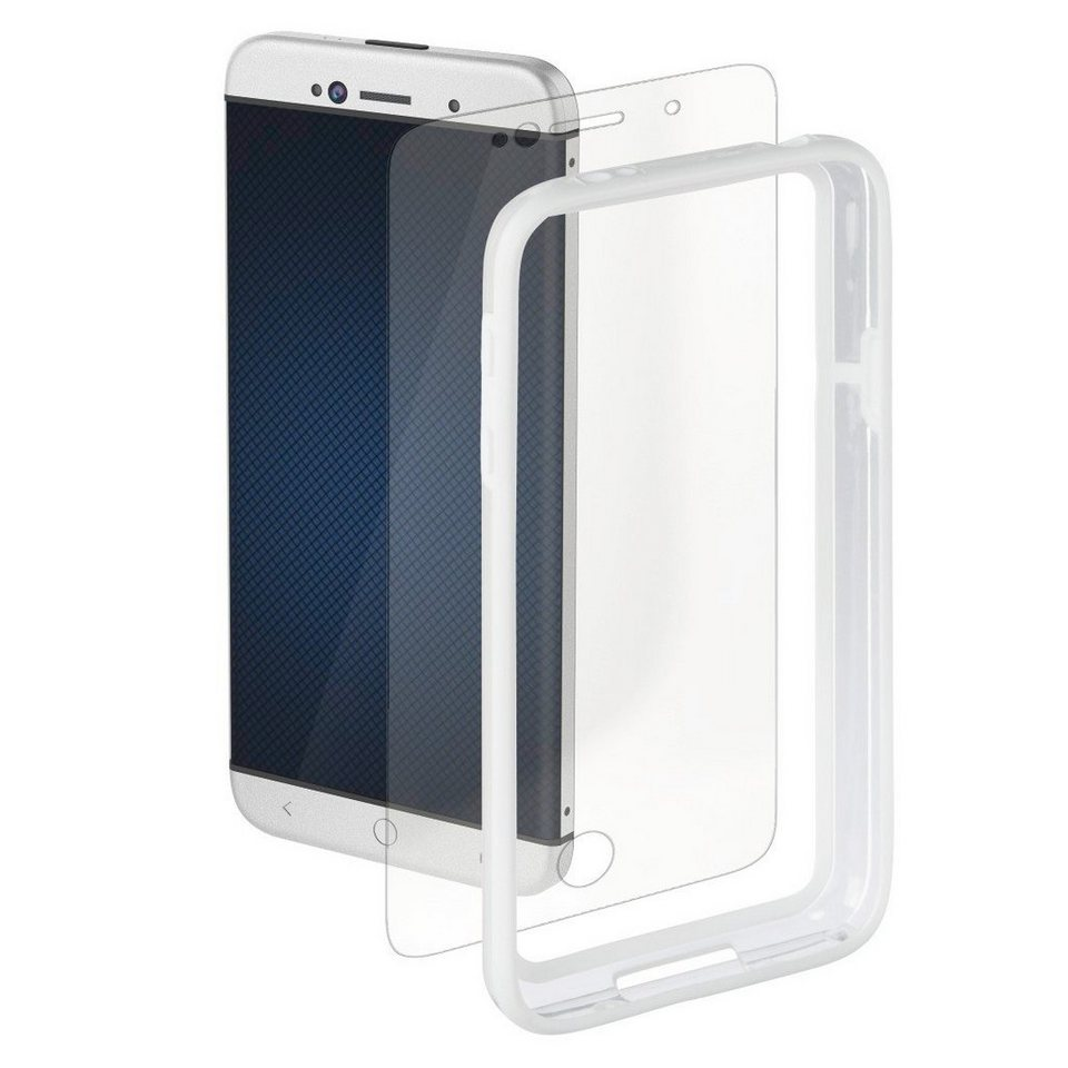 Hama Cover Edge Protector für Samsung Galaxy S5 mini + Displayfolie in Weiß