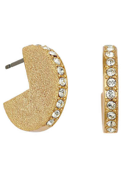 DKNY Paar Ohrstecker »Shimmer Metal Solid Hoop ER (GL), 5548778«, mit Swarovski® Kristallen