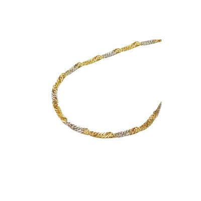 Gallay Goldarmband »Armband 1,8mm Singapur bicolor 14Kt GOLD 19cm«