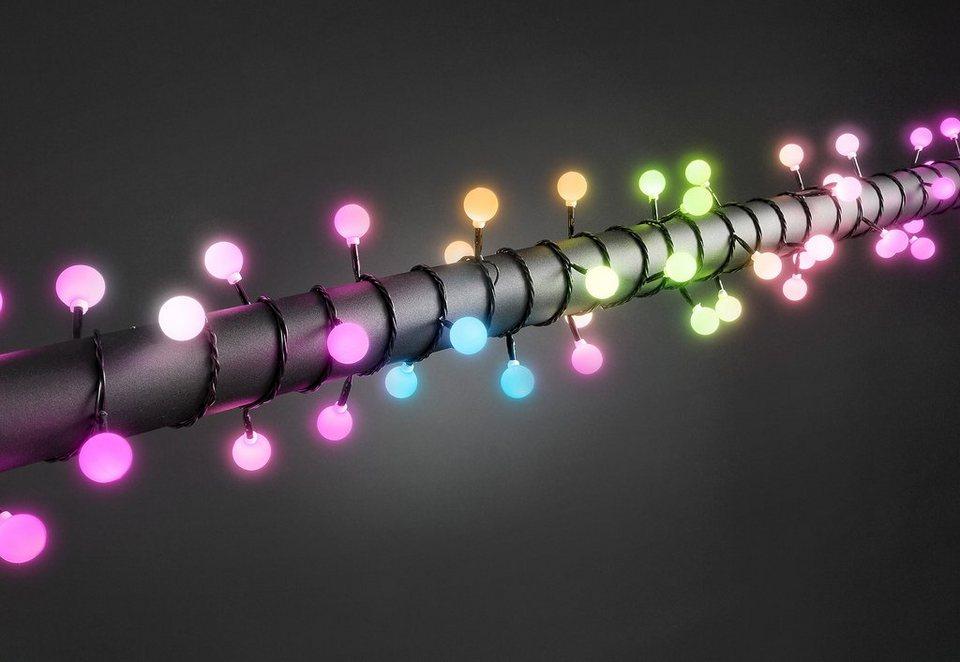 LED-Globelichterkette, Konstsmide in bunt