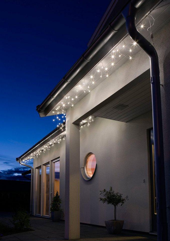 LED Dachrinnenlichterkette, Konstsmide in weiß