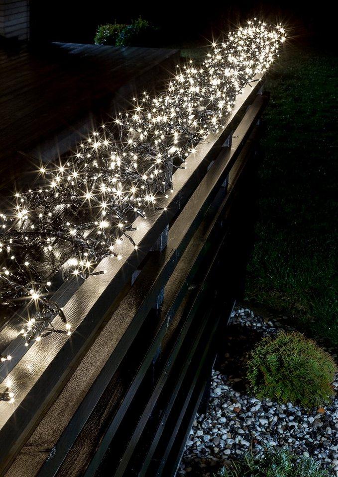 LED Micro Büschellichterkette, Konstsmide in warm weiß