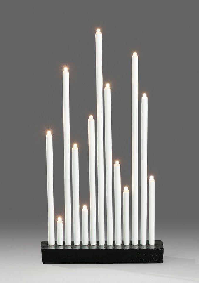 LED Metallleuchter, Konstsmide in weiß