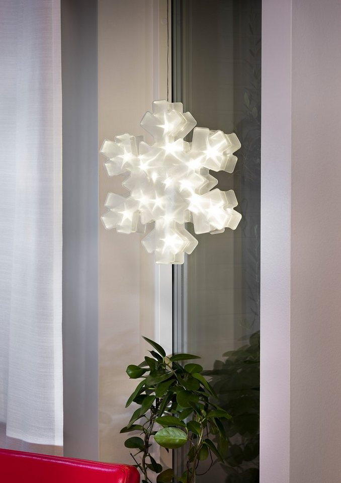 LED Schneeflocke, Konstsmide in weiß