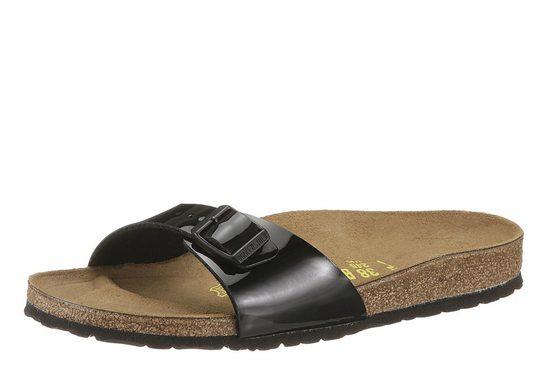 Birkenstock »MADRID« Pantolette in schmaler Schuhweite, Lack-Optik!