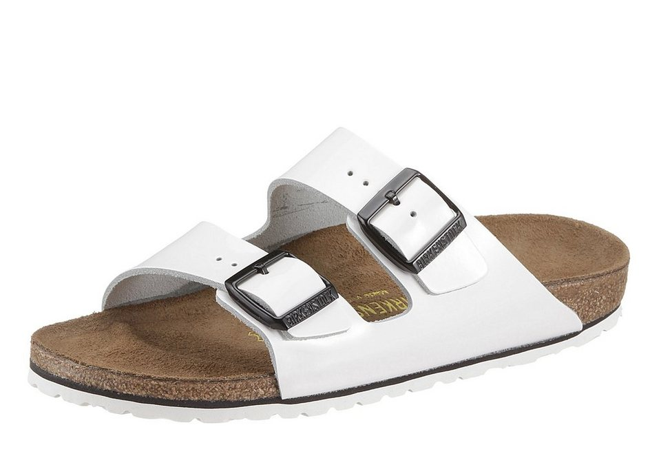 Birkenstock >>ARIZONA<< Pantoletten in weiß