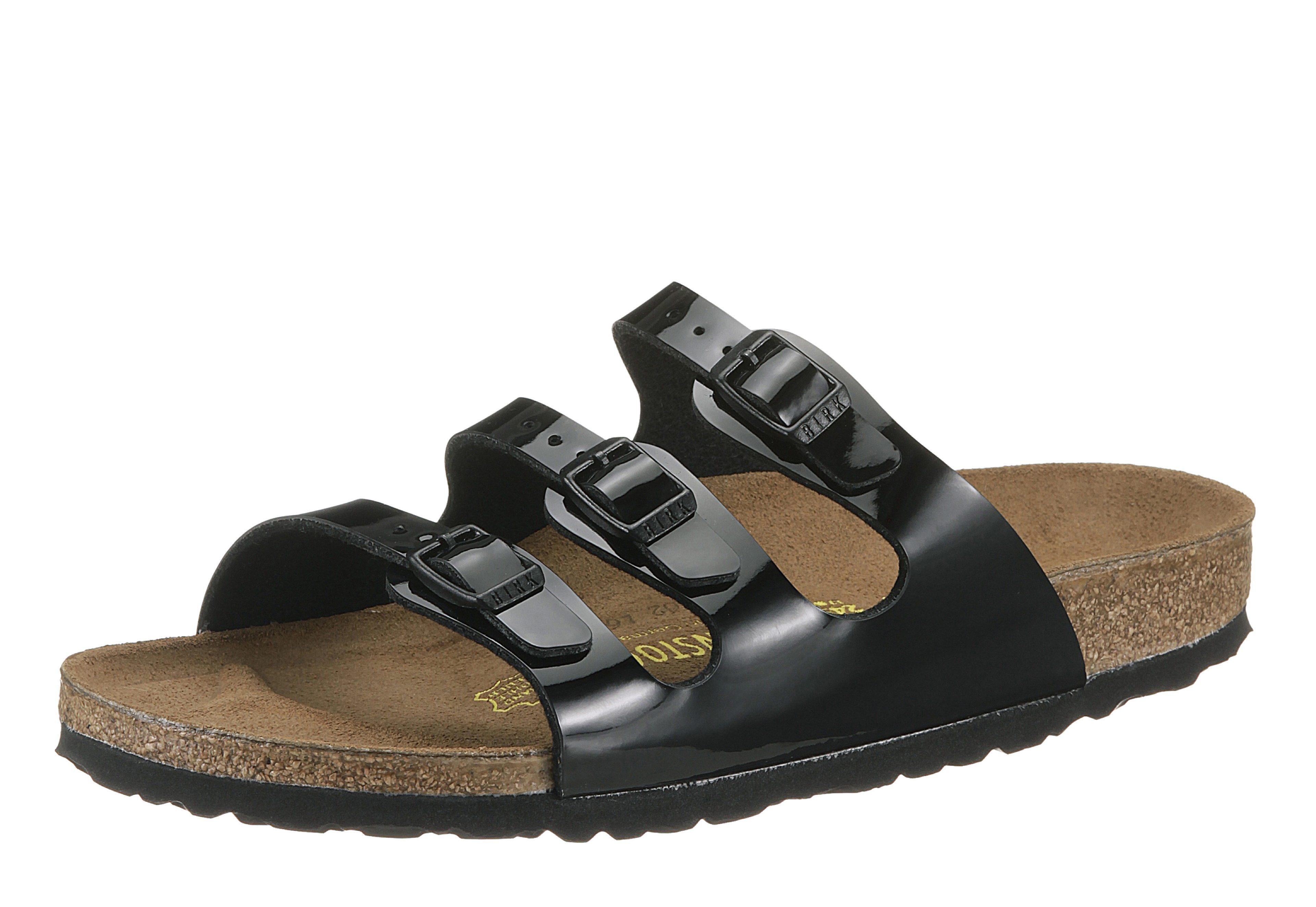 Birkenstock FLORIDA Pantolette, in Schuhweite: schmal online kaufen  schwarz-glänzend