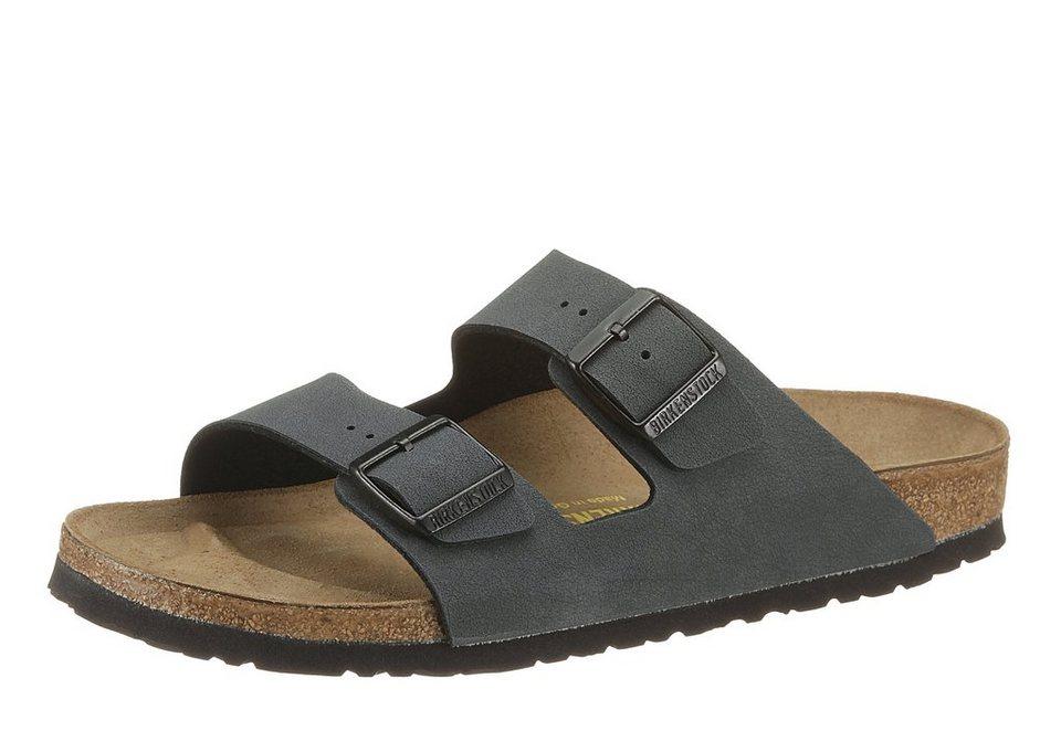 Birkenstock »ARIZONA« Pantolette mit ergonomisch geformtem Fußbett in anthrazit