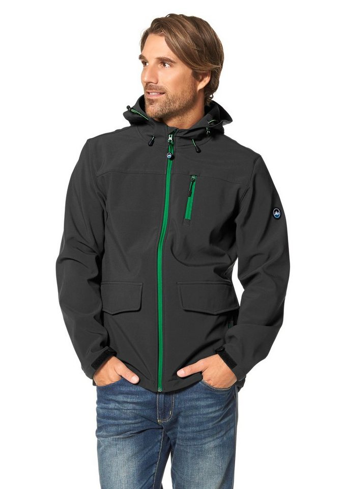 Polarino Softshelljacke in Anthrazit
