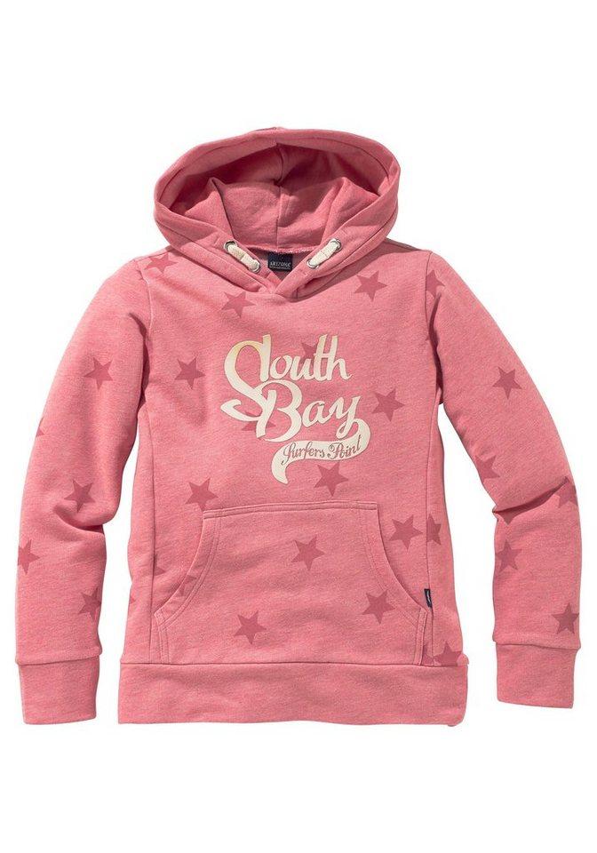 Arizona Kapuzensweatshirt mit Sternen Print in rosa-meliert