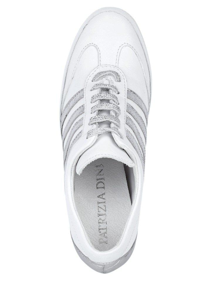 Keilsneaker in weiß/silberfarben