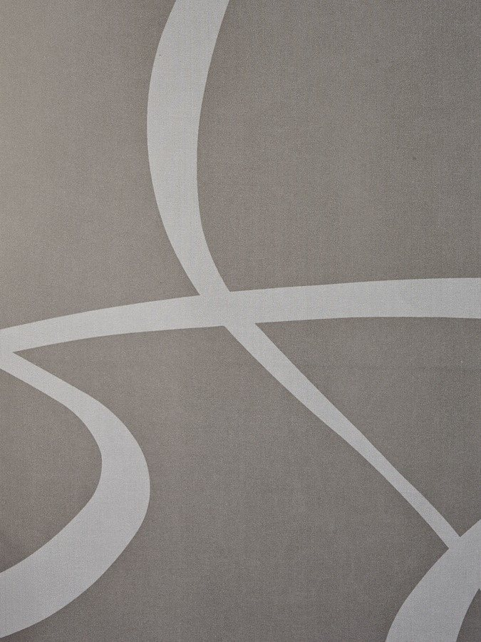 Schiebevorhang in taupe/weiß