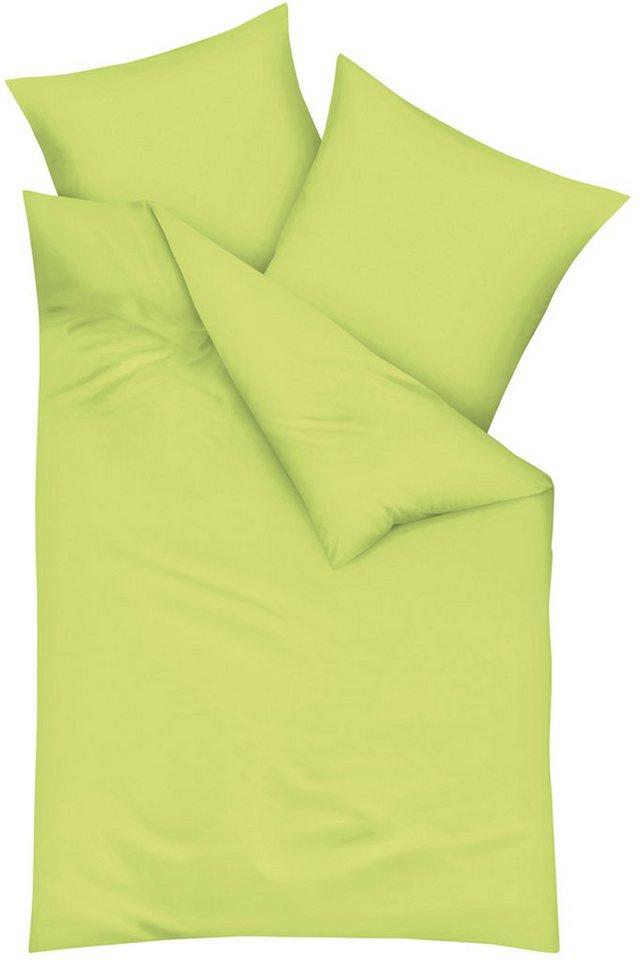 Bettwäsche, Kaeppel, »Uni«, mit toller Farbauswahl in grün