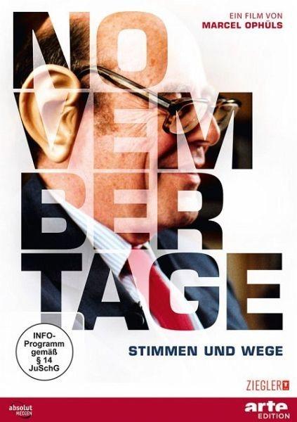 DVD »Novembertage - Stimmen und Wege«