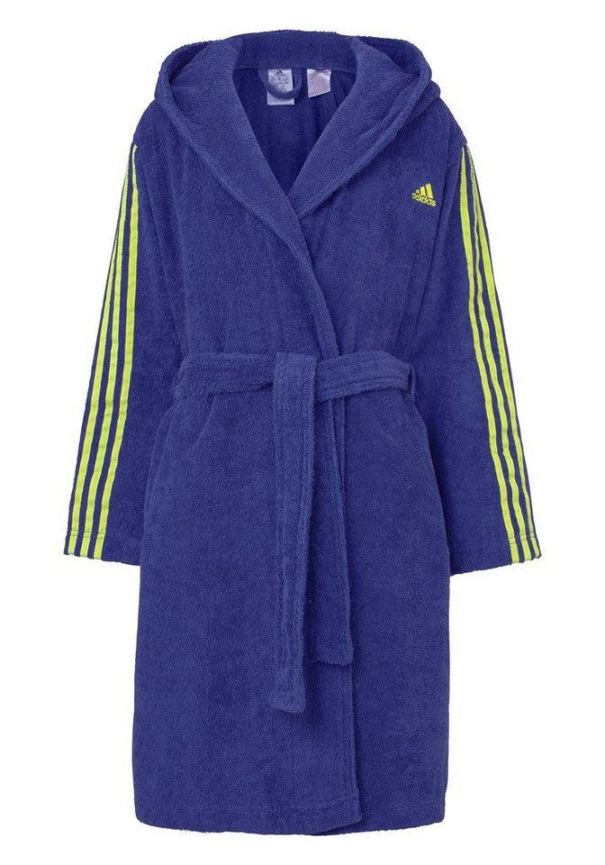 Kinderbademantel, adidas Performance, »Kinder«, mit Streifen am Arm in blau-grün
