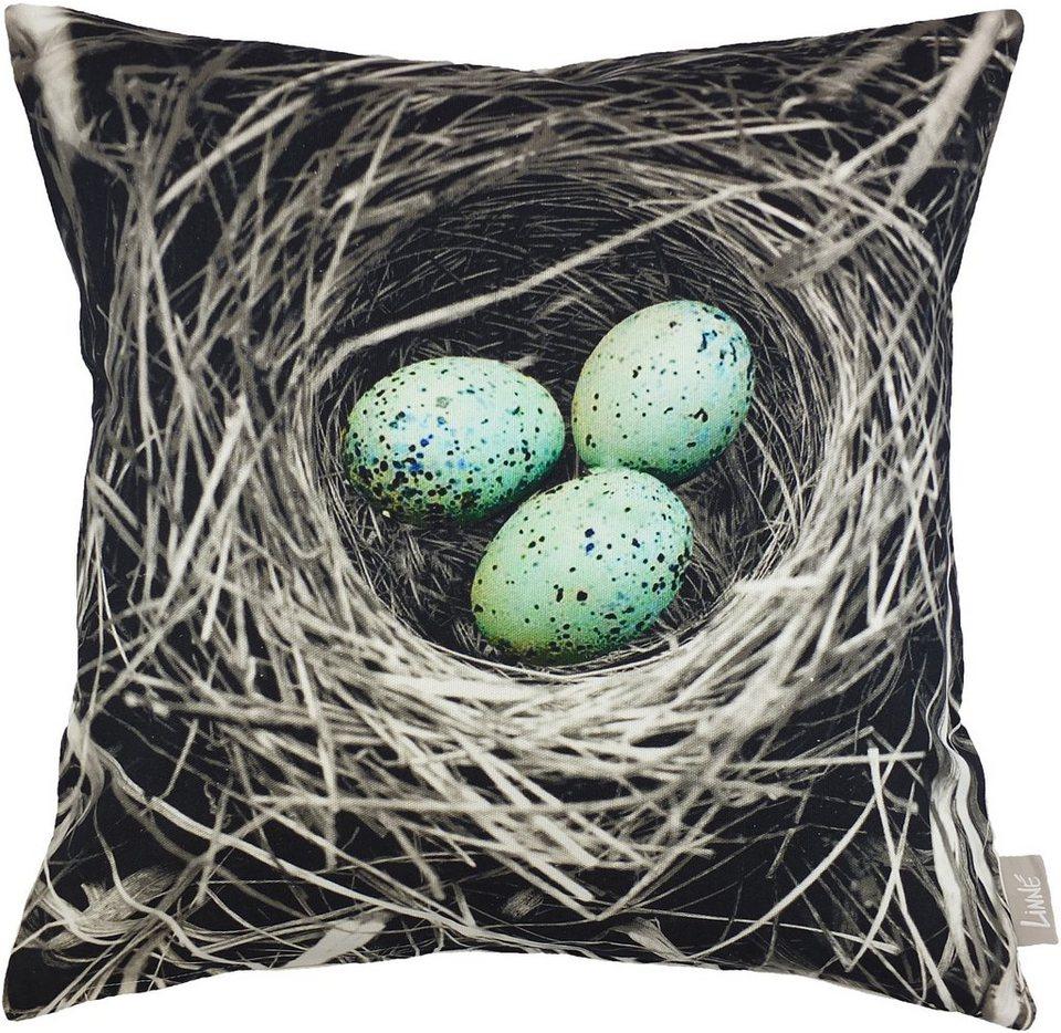 Kissenhüllen, Linne, »Nest« (1 Stck.) in natur