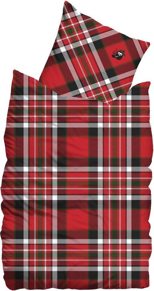 Bettwäsche, Sueños, »Scot«, im Karo-Design in rot