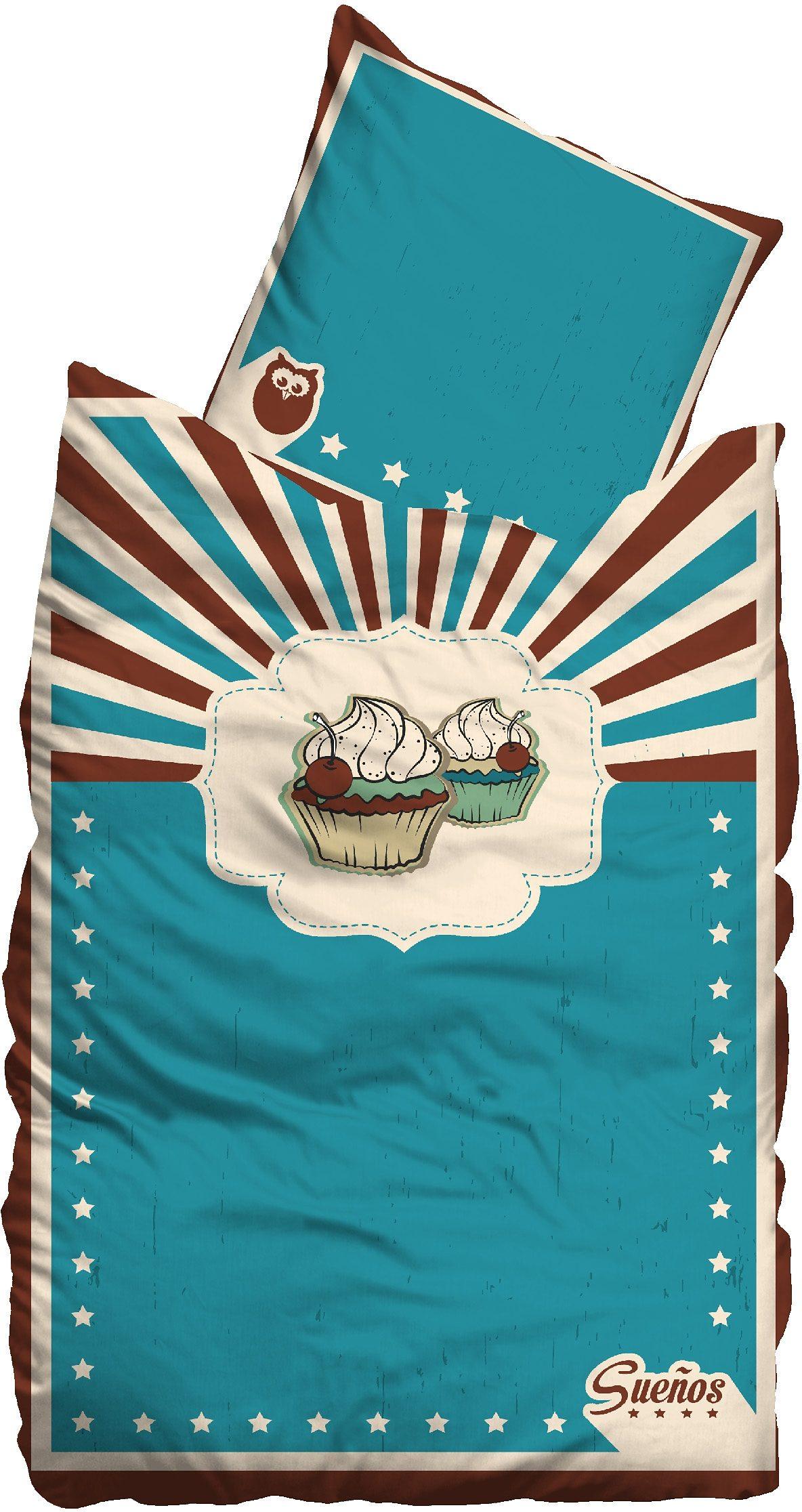 Bettwäsche, Sueños, »Cupcakes«, Retro-Look