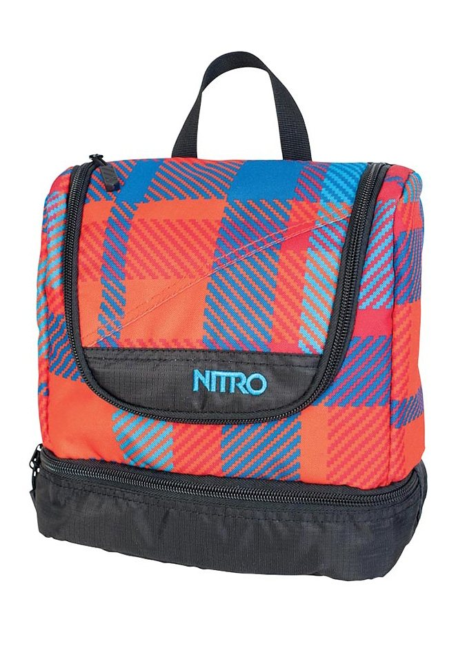 Nitro Reise-Waschbeutel, »Travel Kit - Plaid Red-Blue«