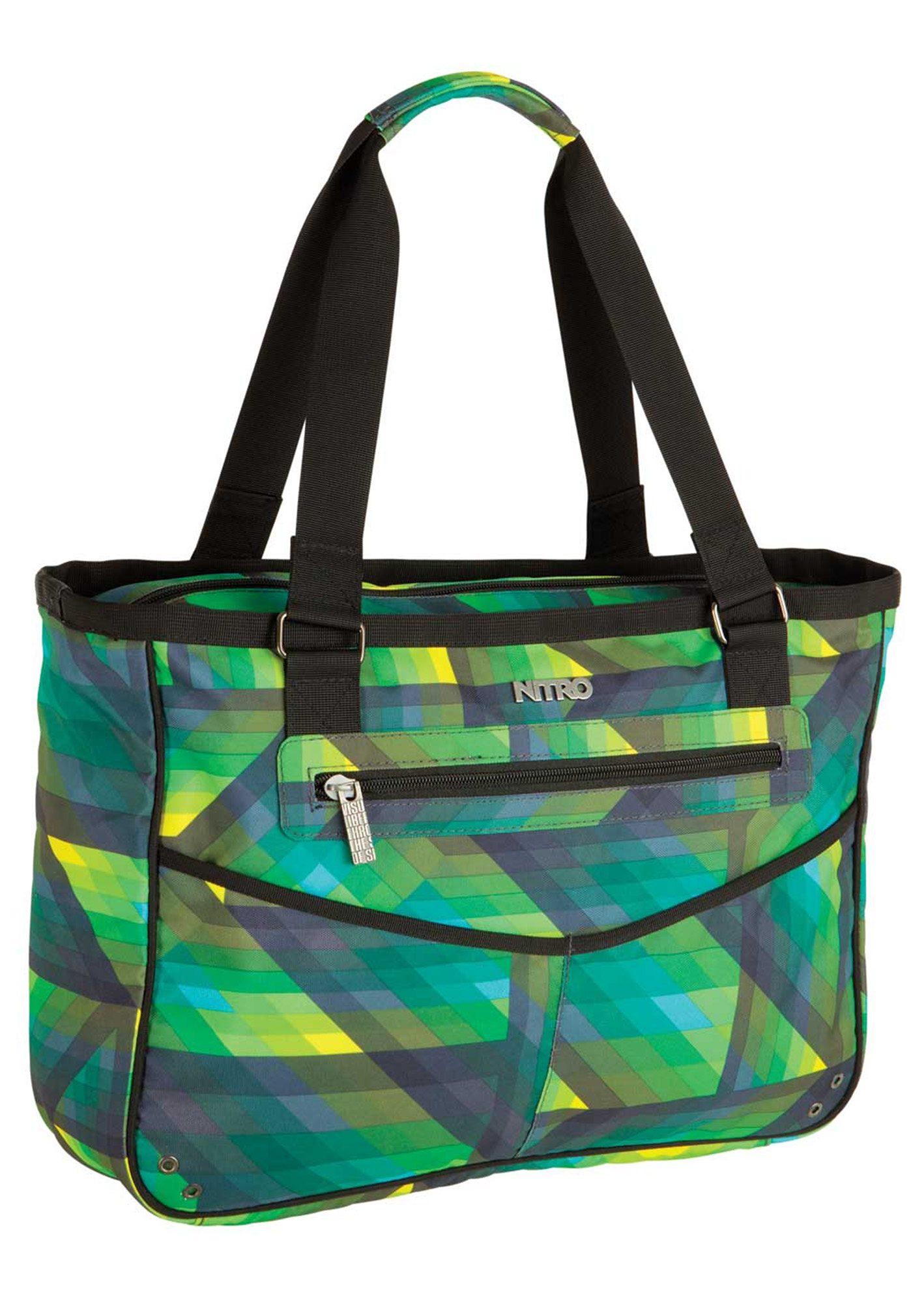 Nitro Umhängetasche mit Laptopfach, »Carry All Bag - Geo Green«