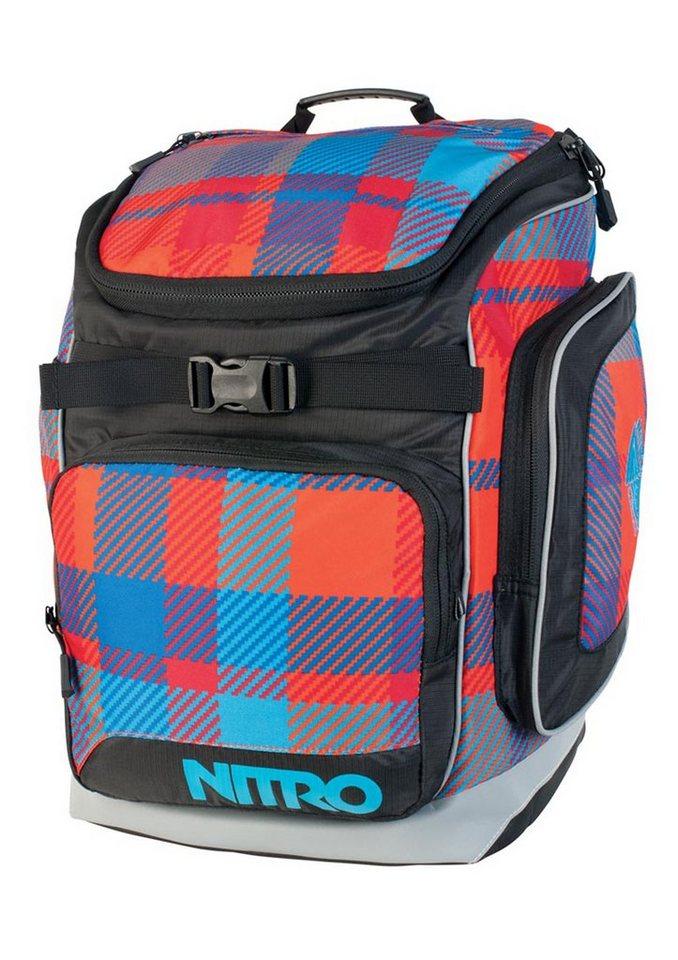 Nitro Schulrucksack, »Bandit - Plaid Red-Blue«