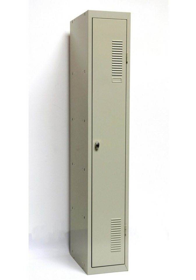 Sz Metall Spind 180 x 30, grau in grau