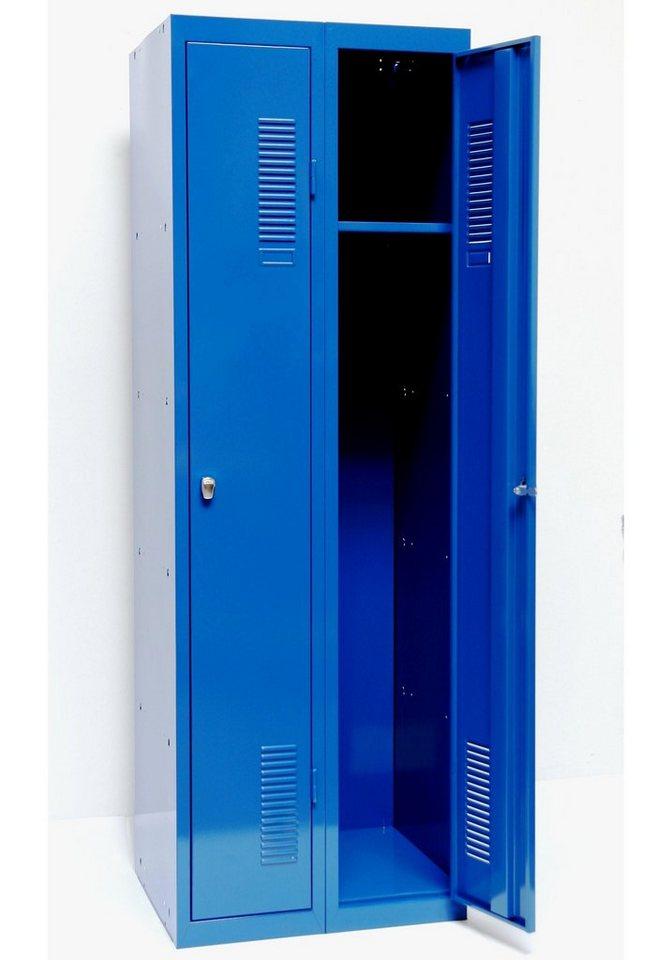 Spind 180 x 60, blau in blau