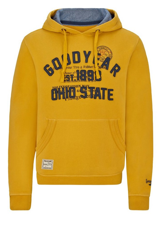 Goodyear Kapuzenpullover in Yellow
