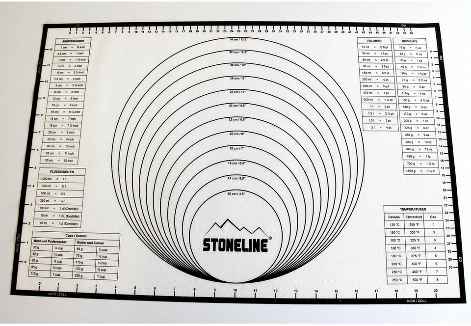 Silikon-Backmatte 2in1, STONELINE® in weiß