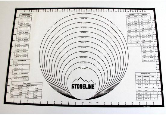 STONELINE Backmatte »2in1«, Silikon (1-tlg), handelsüblichen Backbleche geeignet