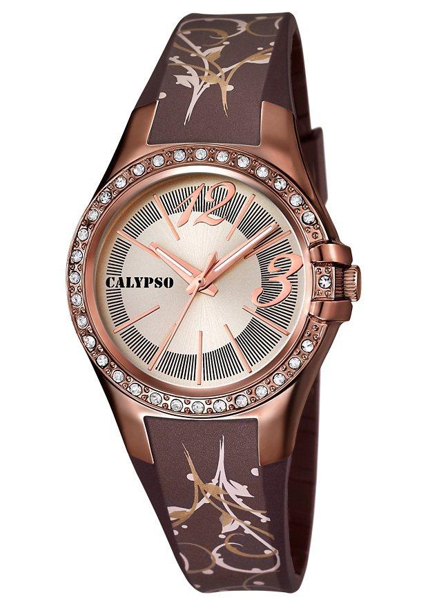 CALYPSO WATCHES Quarzuhr »K5624/C« 3 Zeiger davon 2 Leuchtzeiger in braun