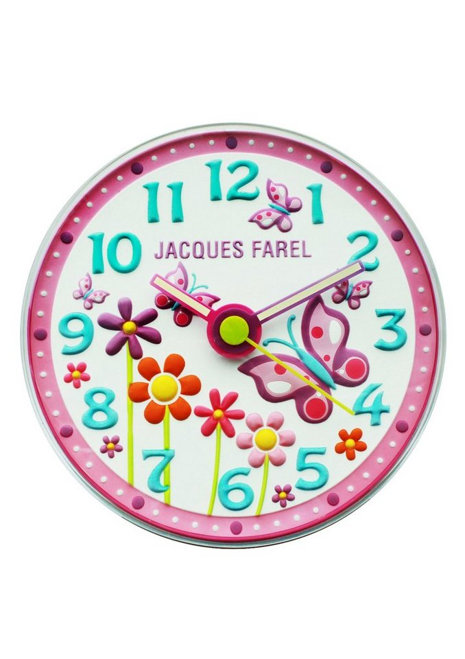 "Jacques Farel, Wanduhr, ""WAL 01"" in rosa"