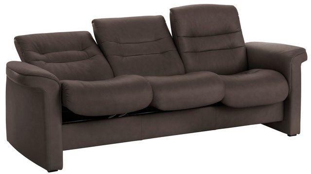 Stressless® 3-Sitzer »Sapphire«| mit Low Back| inklusive Relaxfunktion & Rückenverstellung| Breite 209 cm | Wohnzimmer > Sofas & Couches > 2 & 3 Sitzer Sofas | Braun | Leder | Stressless®