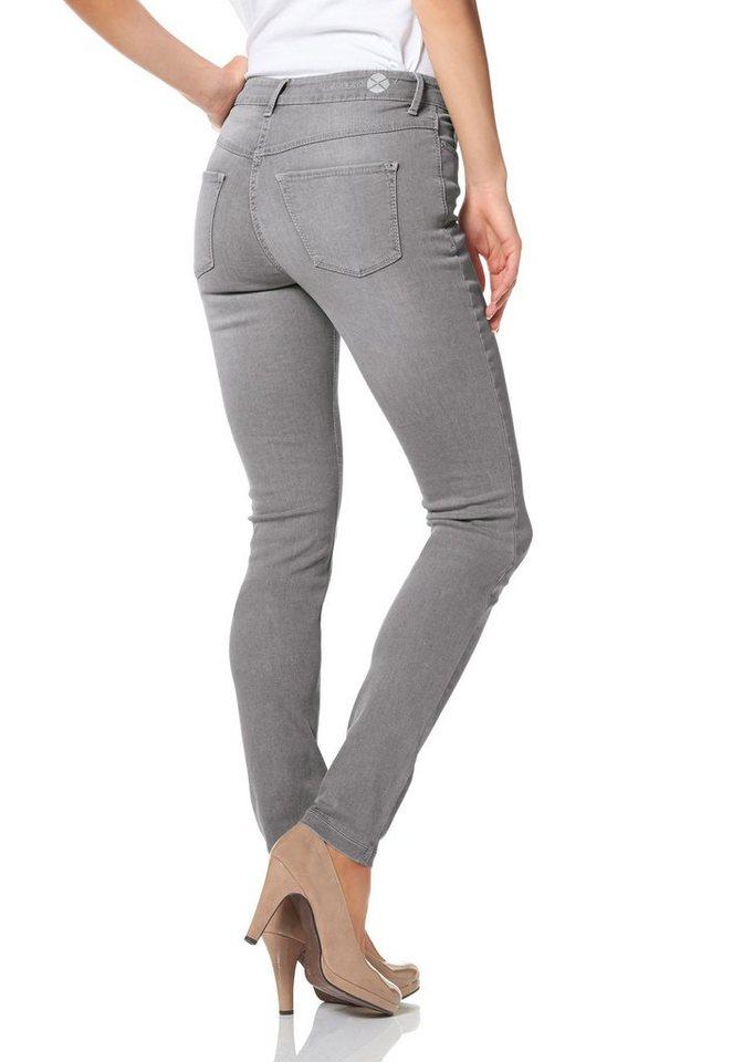 MAC Gerade Jeans »Dream Skinny« Zaubert die Figur eine Größe kleiner , gewohnte Größe bestellen in grey