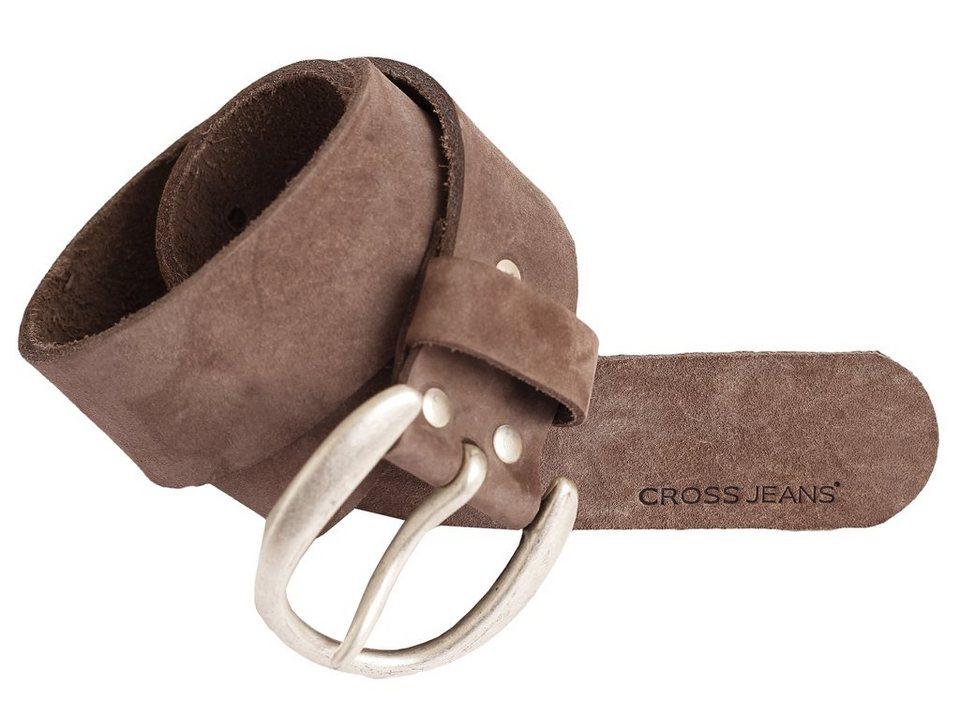 CROSS Jeans ® Gürtel in Nubuk Naturel