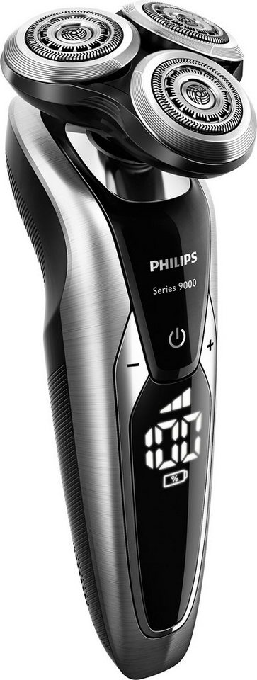 Philips Rasierer Series 9000 S9711/31 Wet&Dry mit SmartClean PLUS, Akku, LED-Display in brushed chrome