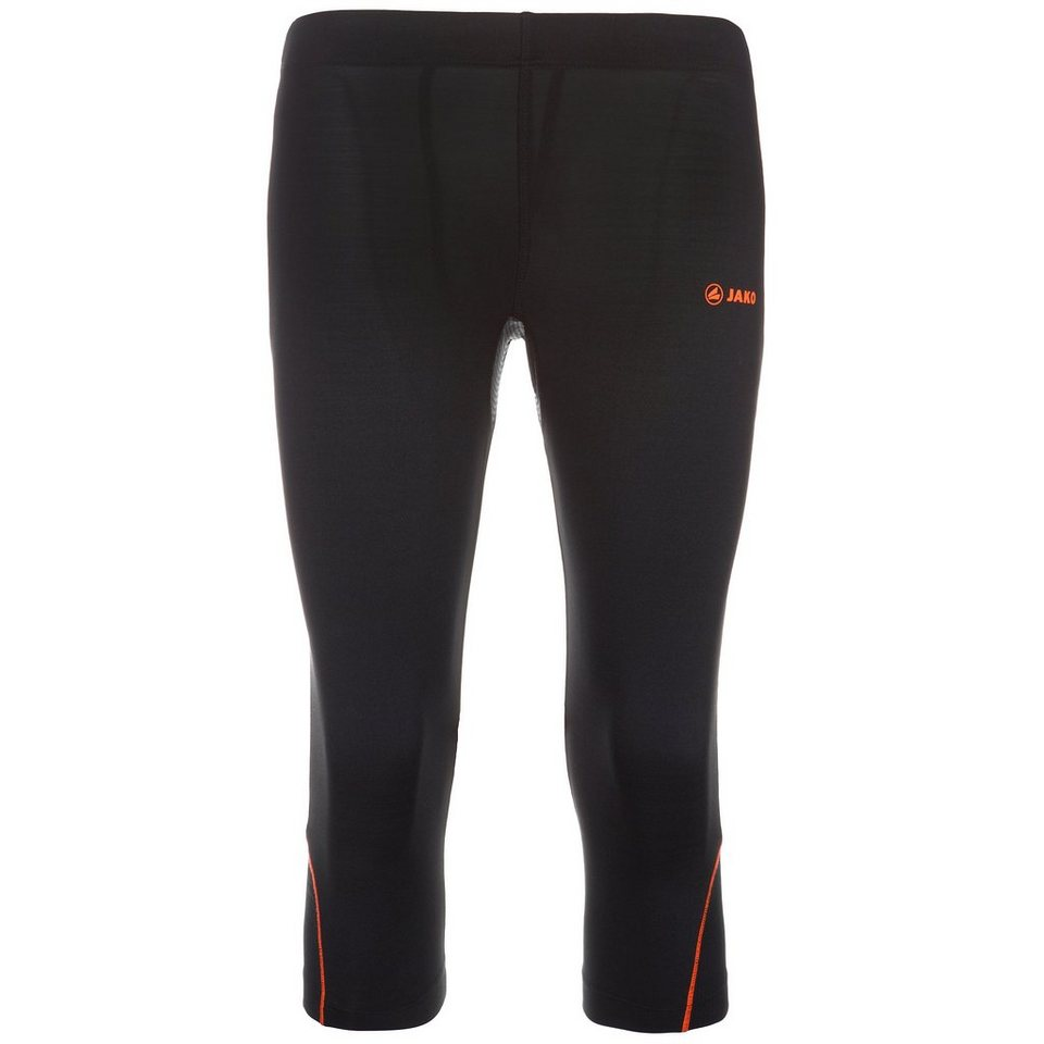 JAKO Capri Tight Power Damen in schwarz/neonorange