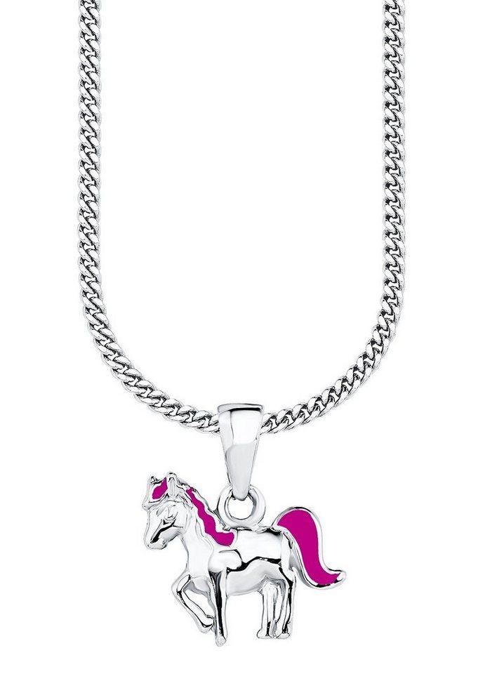 Kette mit Anhänger, »Pferd PLFS/2«, Prinzessin Lillifee in silber 925/pink
