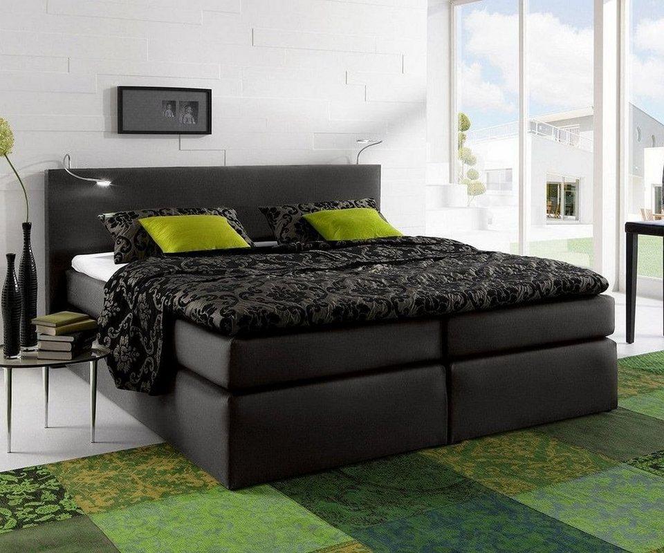 delife boxspringbett alan schwarz 180x200 cm federkern online kaufen otto. Black Bedroom Furniture Sets. Home Design Ideas