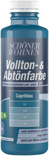 SCHÖNER WOHNEN FARBE Voll- und Abtönfarbe capriblau, 0,5 l
