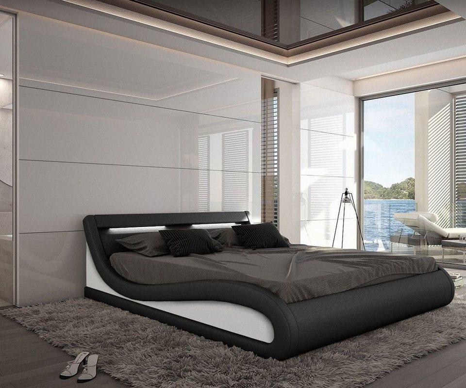 delife bett jeebee schwarz 180x200cm polsterbett mit. Black Bedroom Furniture Sets. Home Design Ideas