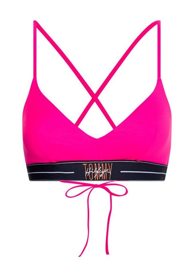Bademode - Tommy Hilfiger Triangel Bikini Top, mit gekreuzten Trägern › rosa  - Onlineshop OTTO