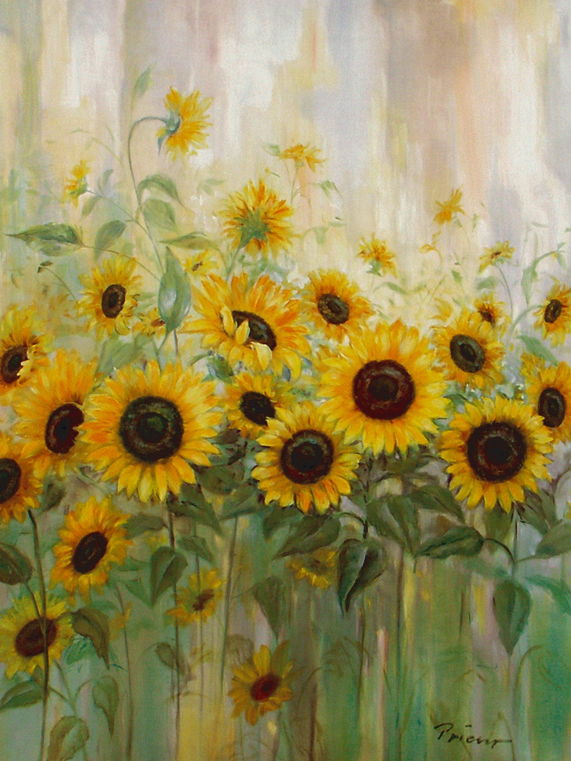 Bild, Kunstdruck, Home affaire, »Prieur: Sonnenblumenwiese«, 57/79 cm