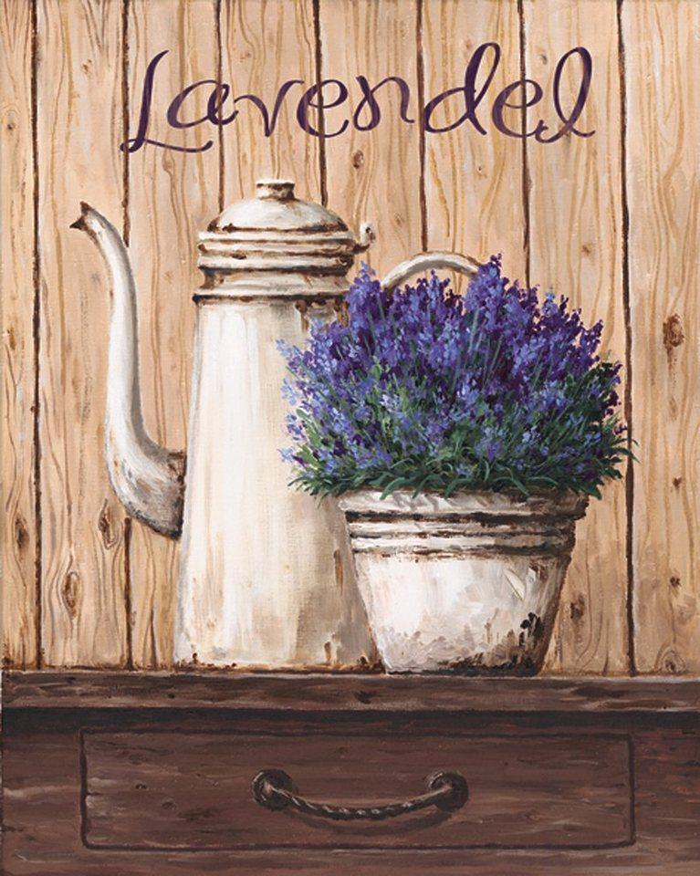 Bild, Kunstdruck, Home affaire, »A. S.: Lavendel«, 39/49 cm in Creme