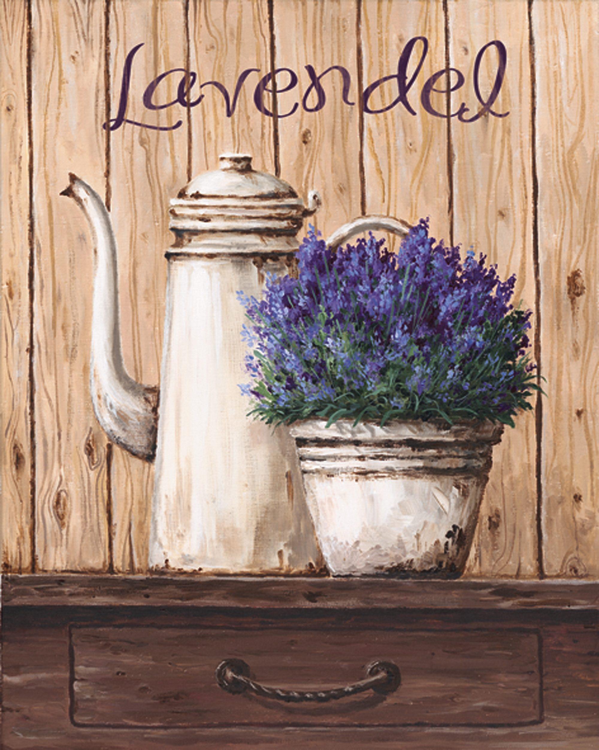 Bild, Kunstdruck, Home affaire, »A. S.: Lavendel«, 39/49 cm