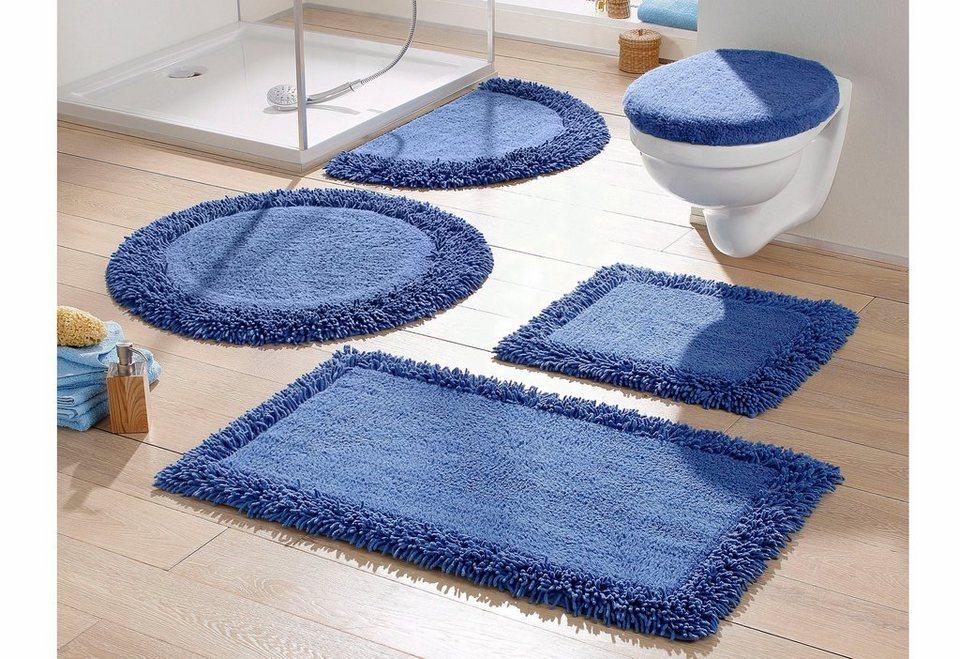 Badematte, Ecorepublic Home, »Michele«, Baumwolle, rutschhemmender Rücken in blau